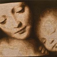 Вышивка 7. Мадонна с младенцем.