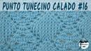 Punto calado tunecino 16 Crochet tunecino Tutorial paso a paso