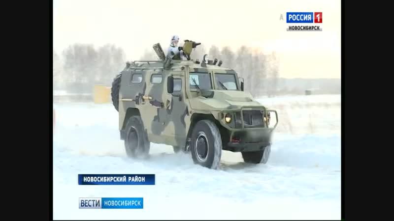 Бойцы спецназа проводят зимние учения на полигоне в Шилово