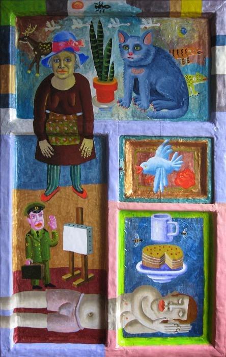 Дмитро Молдованов, ДВЕРІ, 2013, двері, полотно, олія, акрил