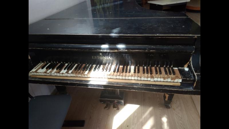 Концерт на старом раздолбанном рояле.