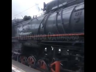 Ретро поезд в Кунцево