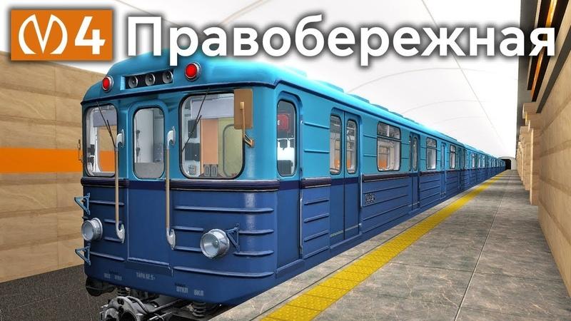 Правобережная линия Петербургского Метрополитена на Еж3 Garry's Mod Metrostroi