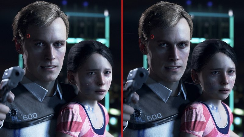 Detroit Become Human Graphics Comparison - PS4 vs. PS4 Pro VGTimes.Ru
