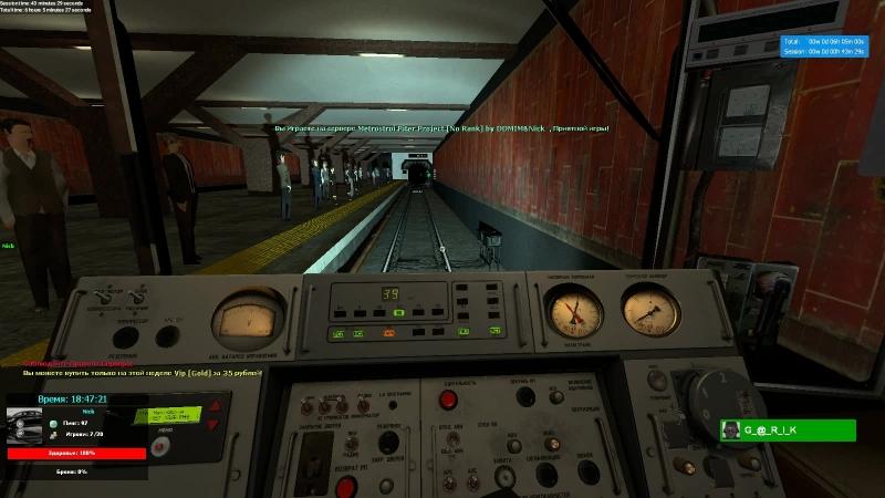 Metrostroi Piter Project [ покатушки на составе 81-717]