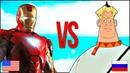 ЖЕЛЕЗНЫЙ ЧЕЛОВЕК VS ТРИ БОГАТЫРЯ СУПЕР РЭП БИТВА Iron Man США VS Алёша Попович Мультик РОССИЯ