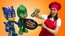 Salchichas fritas para Héroes en pijamas PJ Masks en español Cocina para niños