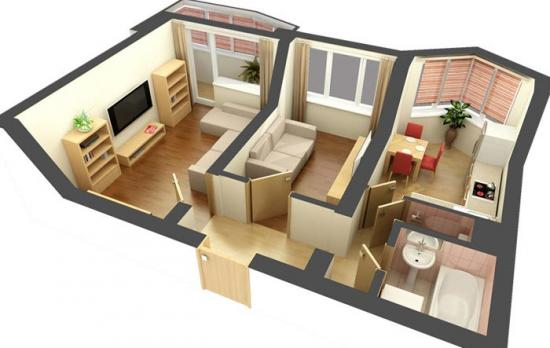 2 х комнатная квартира на ул кольцова 13б