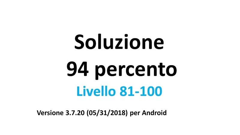 Soluzione 94 percento (%): Livello 81-100 (Italiano) [versione 3.7.20 / aggiornato 05/31/2018] 5