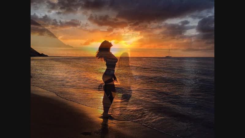 Закат на острове Гваделупа