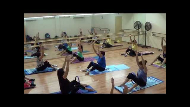 Урок с кольцом Пилатес Pilates Mat work with the Magic circle and props