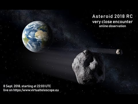 Near Earth Asteroid 2018 RC very close encounter live observation