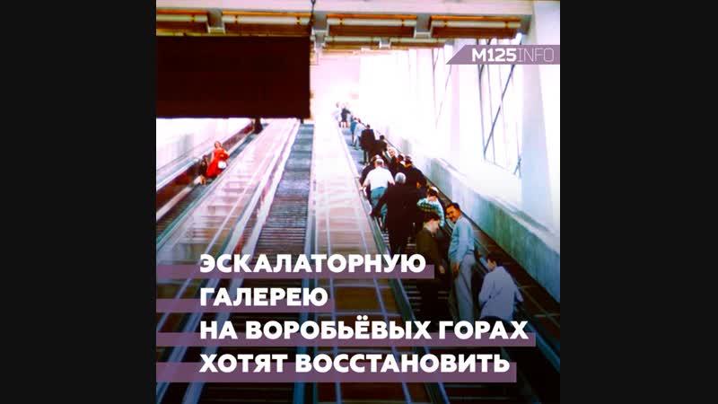 Эскалаторную галерею на Воробьёвых горах хотят восстановить