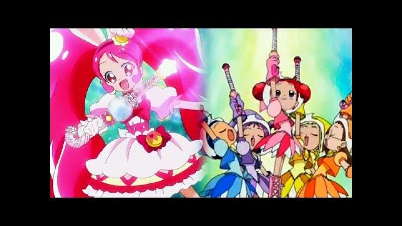 Kirakira☆Precure vs Ojamajo Doremi - Candy Rod Sweet Poron Attacks (Comparison)