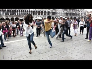 Georgian Dance Rachuli in the Street - Venice, Italy
