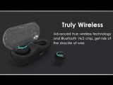 Truly Wireless HBQ Q18 Bluetooth Earphone - 650mAh Charger Box
