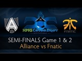 Dota 2 Alliance vs Fnatic - Semi-Finals Game 1 & 2 Highlights - The XMG Captains Draft Invitational