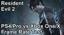 Resident Evil 2 Remake PS4 vs PS4 Pro vs Xbox One X vs Xbox One Frame Rate Comparison