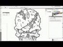 Vector Skull Speed Drawing
