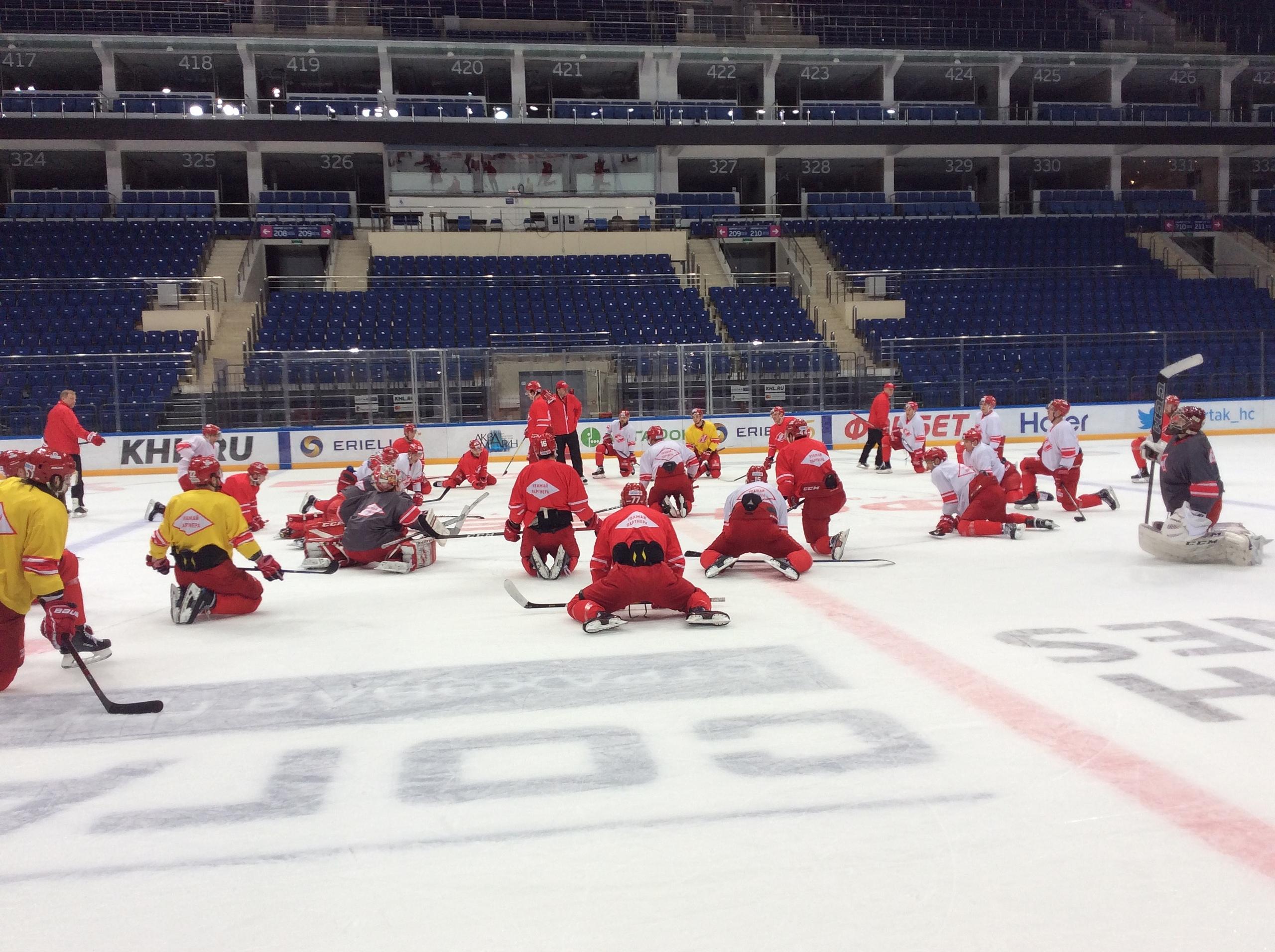 «Спартак»: первая тренировка в 2019 году
