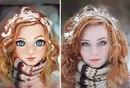 Бразильский художник Julio Cesar превращает фотографии случайных людей в удивительные иллю…