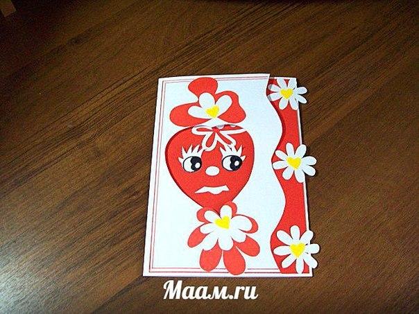 Сердечное ПОЗДРАВЛЕНИЕ ДЛЯ МАМЫ пошаговый МАСТЕР-КЛАСС изготовления открытки в технике аппликация С … (6 фото)