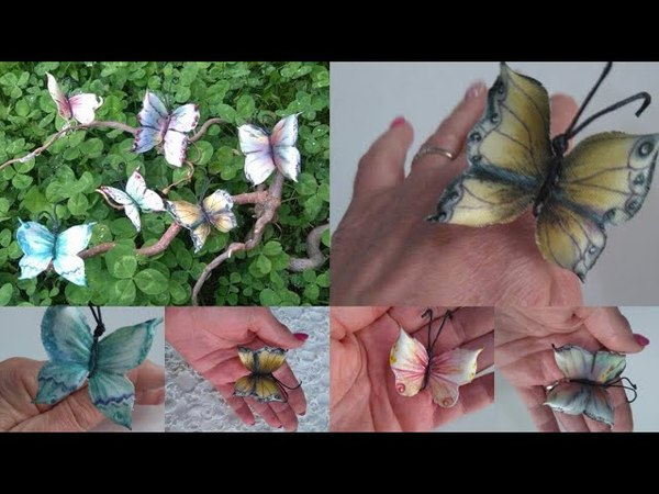 Diy How to make beautiful satin butterflies tutorial come realizzare farfalle in raso senza cucire