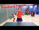 How to play forehand topspin——Yangyang's table tennis lessons