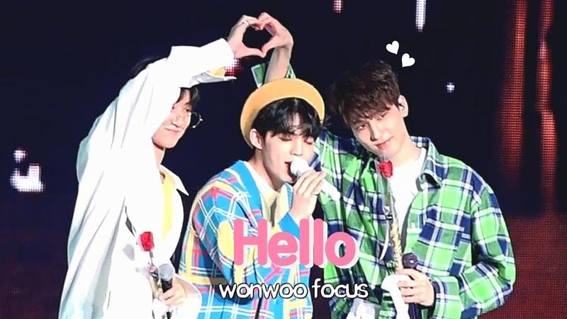 [FANCAM] [190309] SCoups, Wonwoo The8 (SEVENTEEN) - Hello (Wonwoo focus) @ 3rd Fanmeeting Seventeen in Carat Land