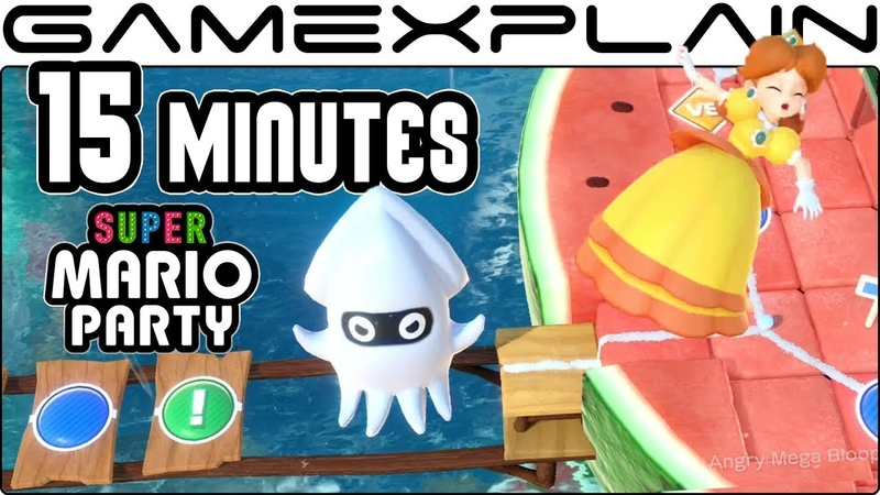 15 Minutes of Super Mario Party's Classic Board Mode DIRECT FEED Gameplay Nintendo Switch