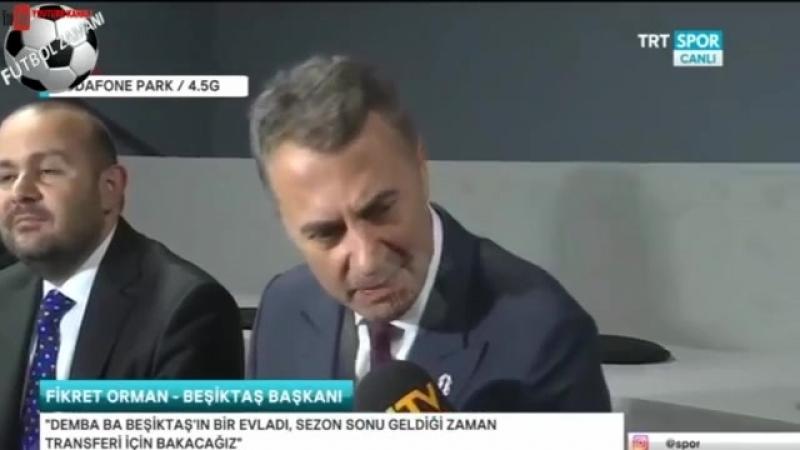 Beşiktaş Başkanı Fikret Orman Talisca, Lens ve Transfer gündemi açıklamaları 5 NİSAN 2018