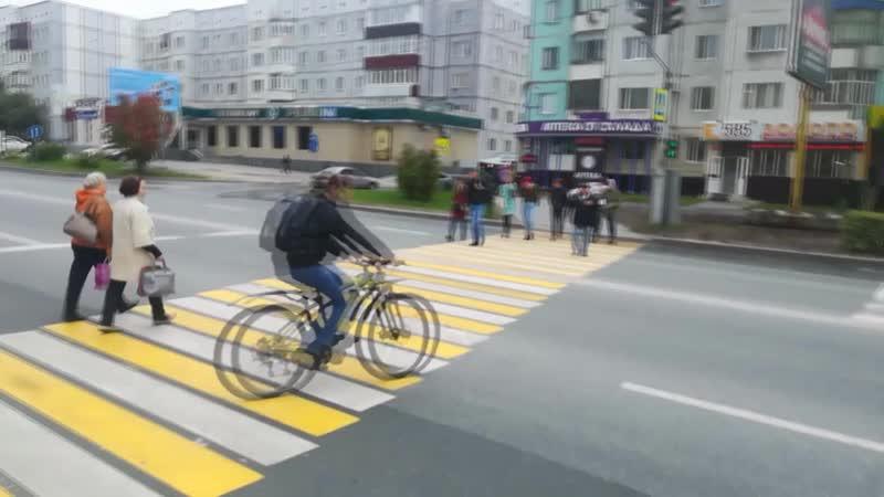 Неправильное пересечение пешеходного перехода