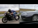 Awesome Supra battle 6 speed Supra vs auto Supra and CBR1000s street race!