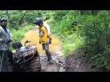 Порвал трос на Stels ATV 800 D
