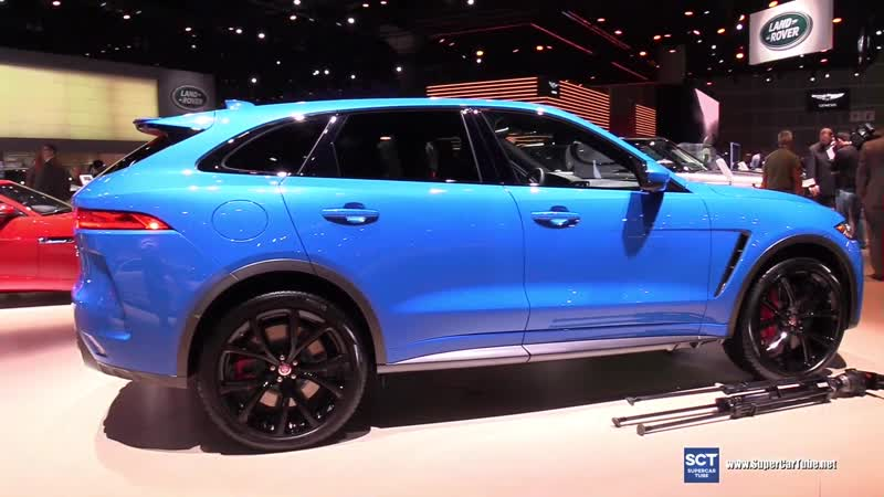 2019 Jaguar F Pace SVR - Exterior and Interior Walkaround - 2018 LA Auto Show