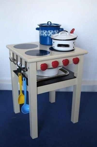Детскую кухню можно сделать из...табуретки!!!