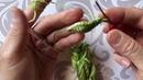 😍Мастер класс 🍃 листик который был вязан для цветочка на шапочку с лотосом