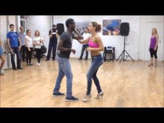Sasha Lomakina & Djuni D. Bachata lesson (Mambo GROUP)