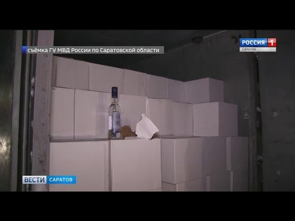 Партию немаркированного алкоголя изъяли полицейские на татищевской автостоянке