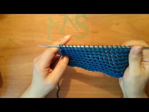 Вязание спицами: Простой двусторонний узор.(Объёмные изнаночные)