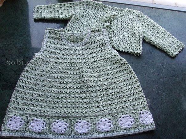 Вязание: комплект на девочку: сарафан и болеро… (10 фото) - картинка