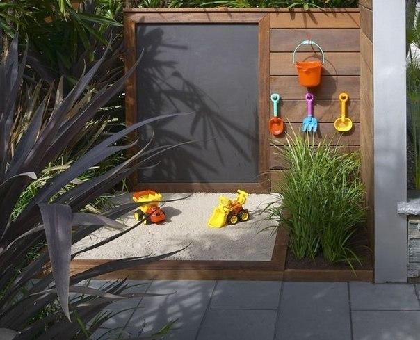 Idea of a children's corner in a garden