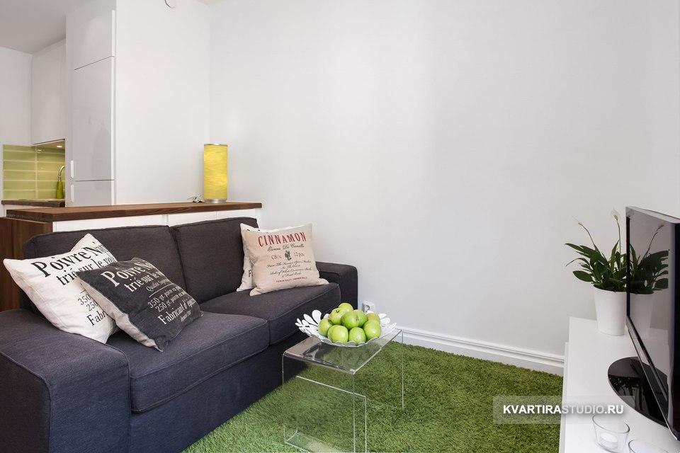 Малометражная квартира-студия 21 м в Стокгольме / Швеция - http://kvartirastudio.