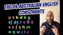 The 24 Australian English Consonants   Pronounce All English Consonants   Aussie Pronunciation