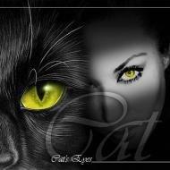кошка девушка