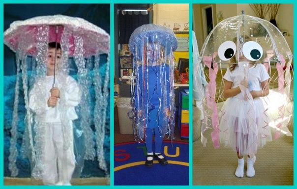 Костюм медузы для девочки своими руками из подручных материалов 16