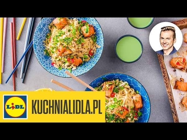 🍲 Pad thai z łososiem - Karol Okrasa - przepisy Kuchni Lidla