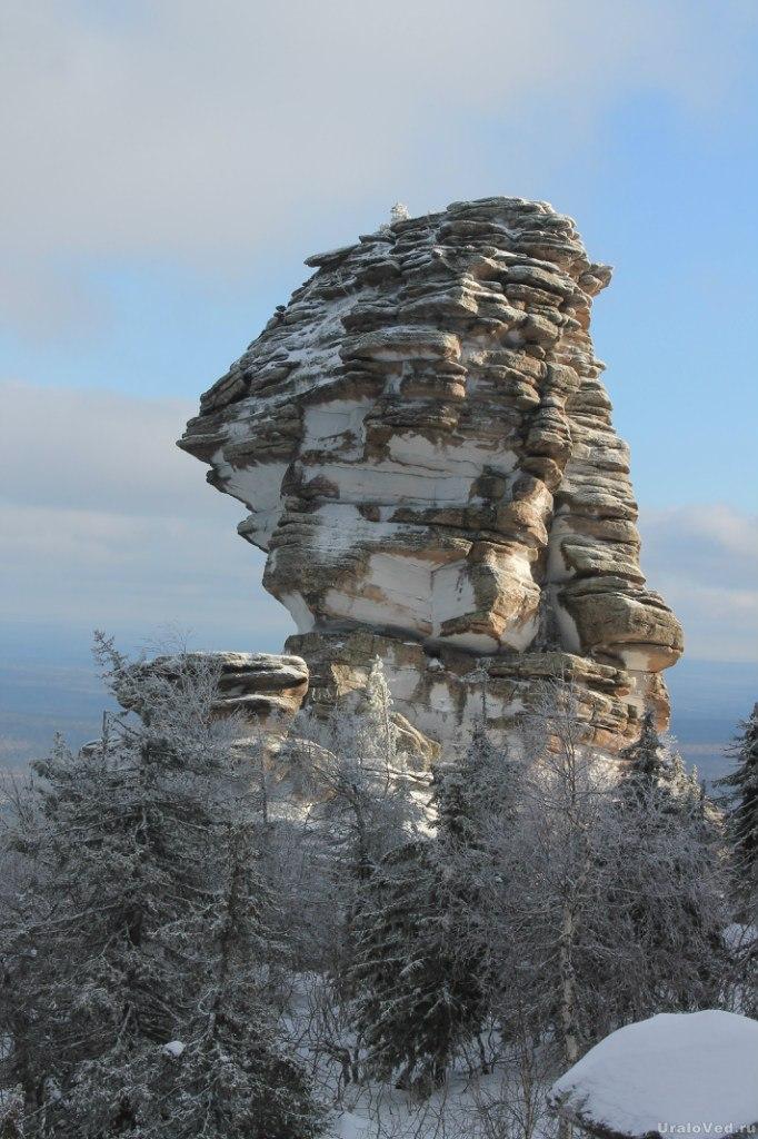 Один из каменных столбов Помяненного камня