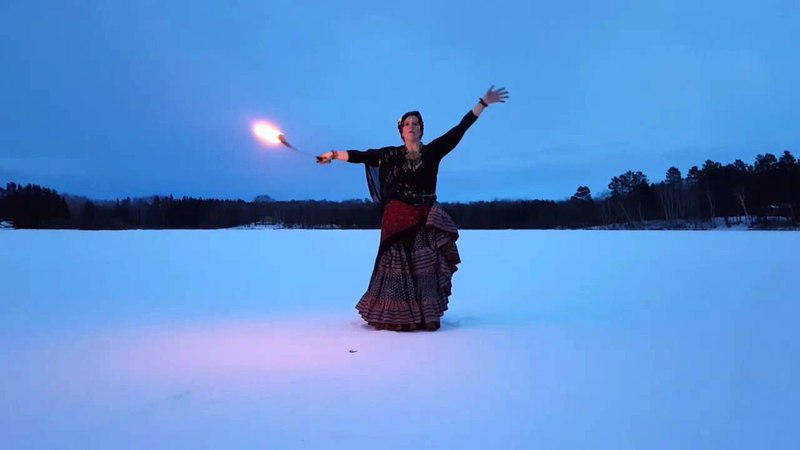 American Tribal Style® Belly Dance Dancing with Fire Amber Hunt Gaia Sophia