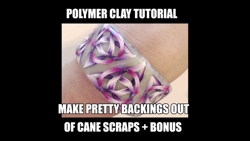 146 - Polymer clay tutorial - use cane scraps for nice backings bonus